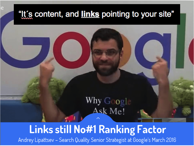 Links are still No#1 Ranking Fact